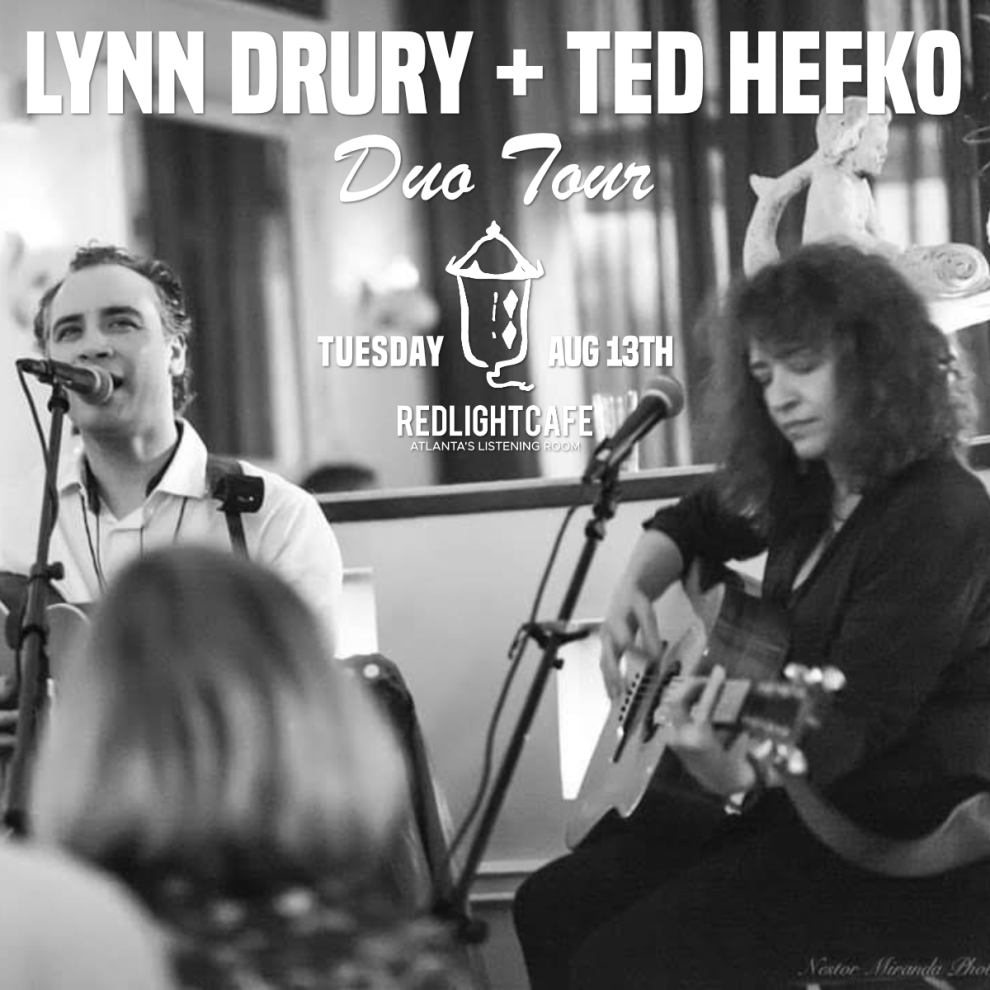 Lynn Drury Ted Hefko At Red Light Cafe Atlanta Ga Aug 13 2019 Square