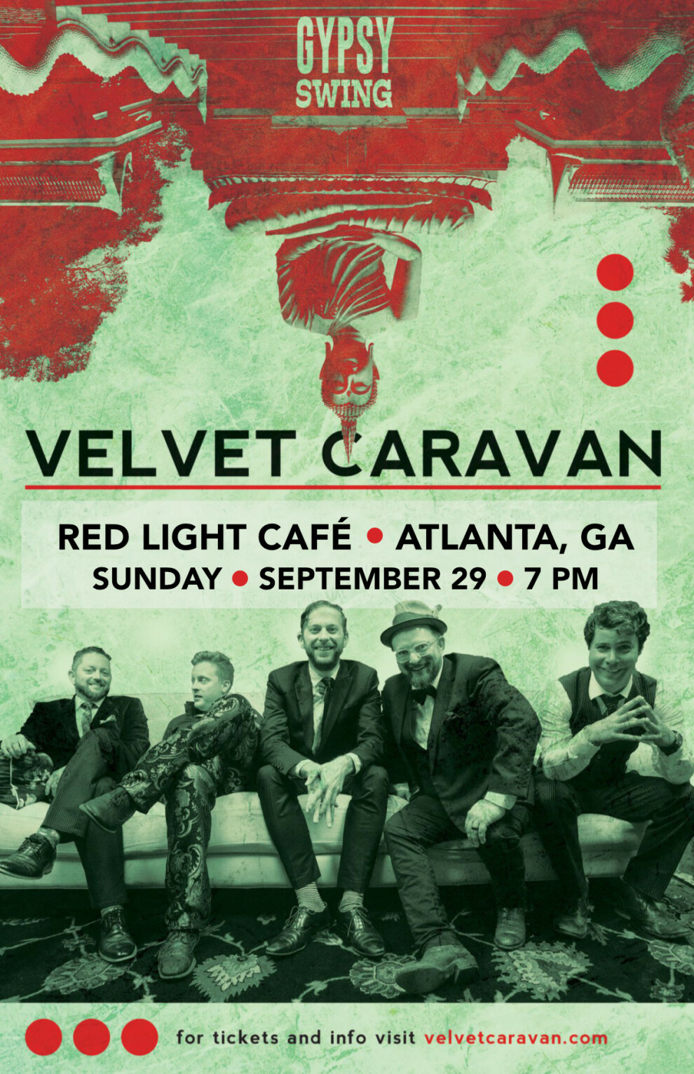 Velvet Caravan A Sunday Evening Of Gypsy Swing At Red Light Cafe Atlanta Ga Sep 29 2019 Poster 1200