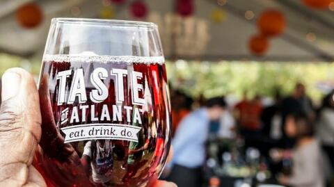 Taste Glass Photo Courtesy Of Taste Of Atlanta