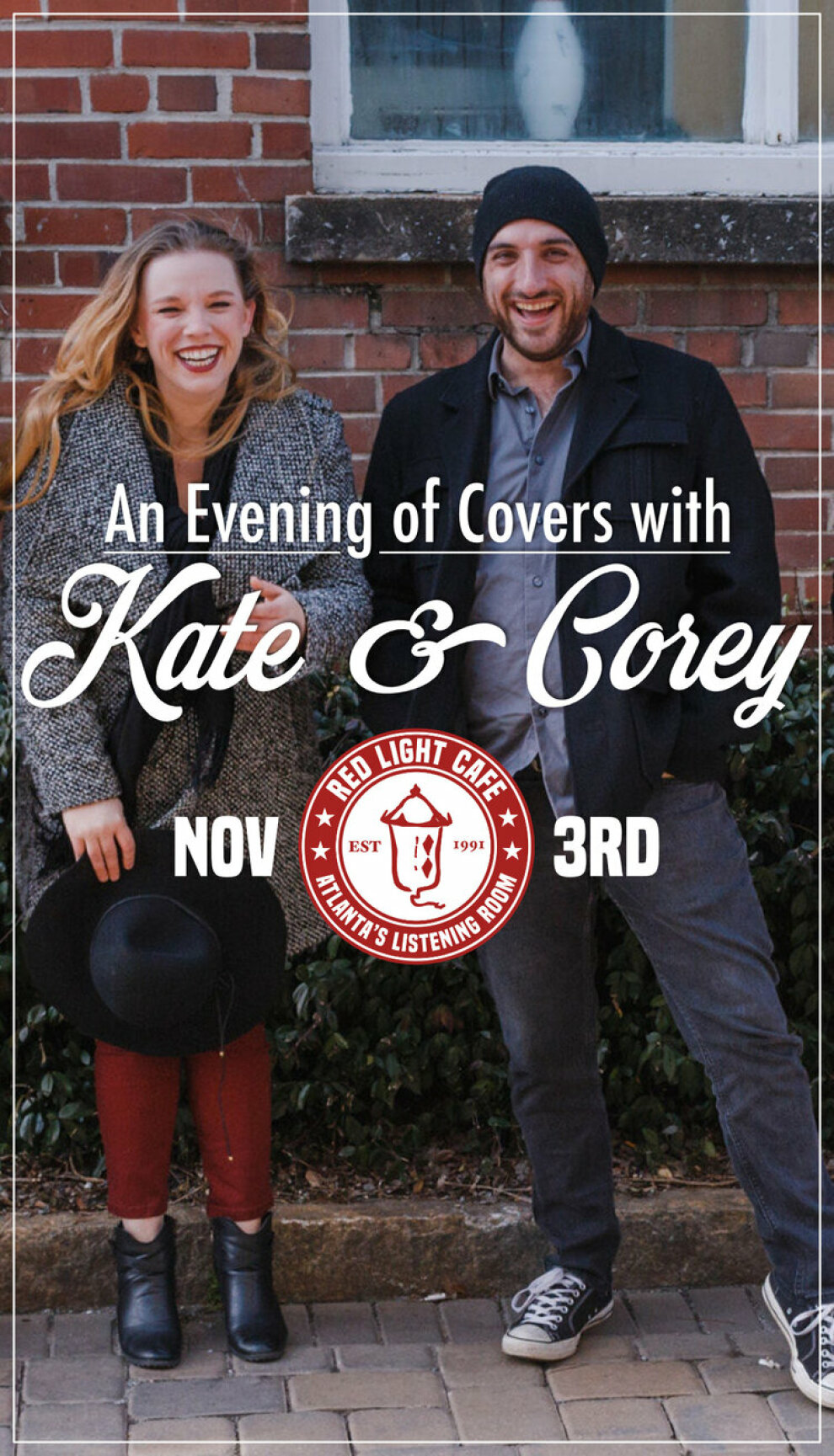 An Evening Of Covers With Kate And Corey At Red Light Cafe Atlanta Ga Nov 3 2019 Poster 1200