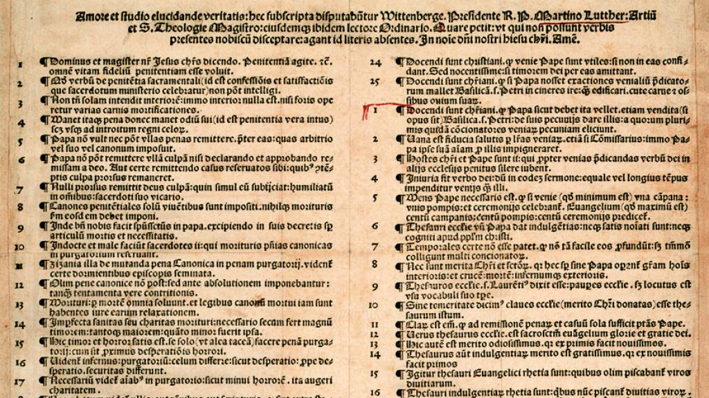 Nuremberg printing of Luther's 95 Theses