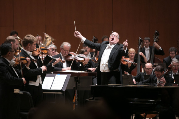 CAUGHT IN ACTION: The Atlanta Symphony Orchestra celebrates 74 seasons with an eclectic catalogue of performances. PHOTO CREDIT: Jeff Roffman.