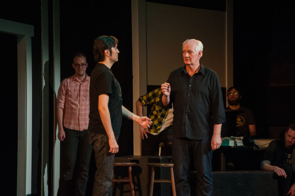 UNDER THE LIMELIGHT: Colin Mochrie caught in the moment at Dad's Garage Theatre. PHOTO CREDIT: Haylee Anne Kitties.