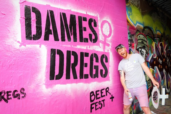 THIS IS MY GAME FACE: Dames and Dregs Beer Festival supports women in brewing on Aug. 11. PHOTO CREDIT: Alicia Fortino.