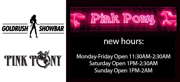 Pink Pony New Hours