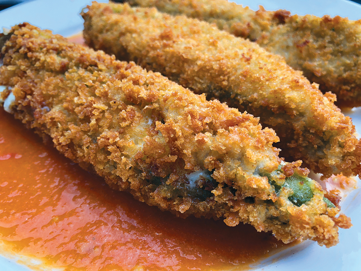 TAQUERIA DEL SOL: The chile rellenos. Photo by Cliff Bostock.