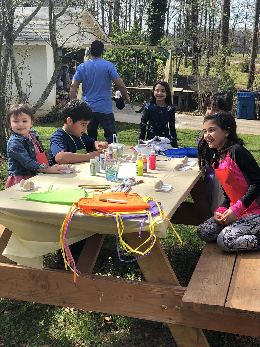 Kids Painting Eggs For Persian New Year. Photo By Samira Bregeth.
